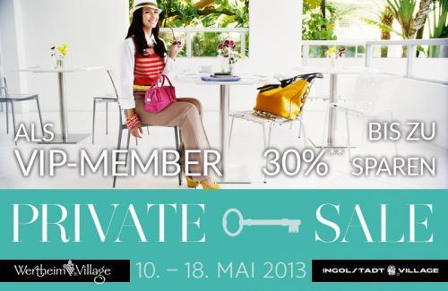 30% Rabatt auf die Outletpreise im Ingolstadt Village und Wertheim Village