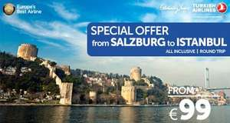 Flüge: Istanbul ab Salzburg mit Turkish Airlines 86,- € hin und zurück (Juni)