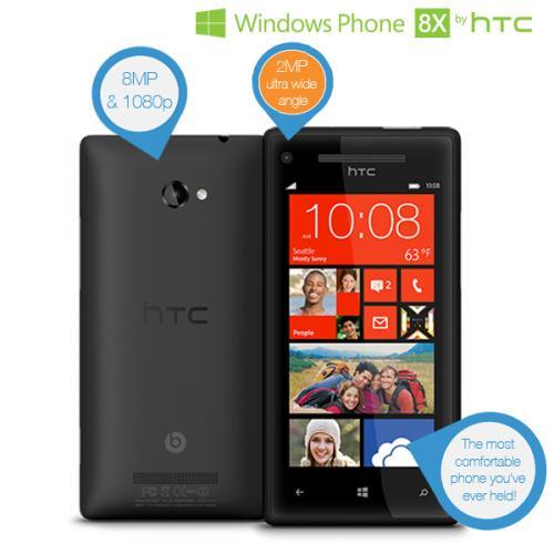 HTC 8X Windows Phone in Schwarz für 285,90€ [@iBood]