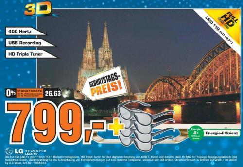 47LM671S für 799€ bei Saturn Köln *Geburtstags-Kracher*