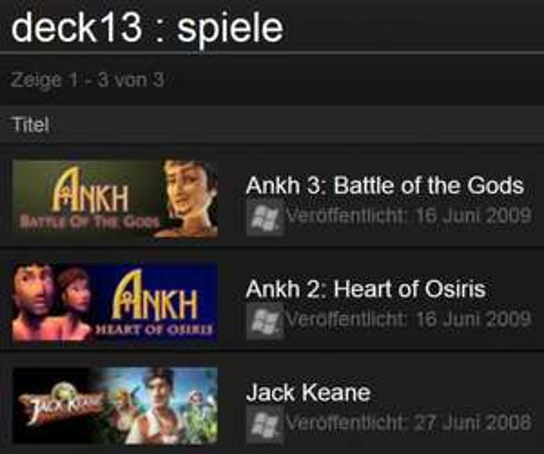DECK13-Adventure-Games @ Steam [Englisch / 75% OFF]