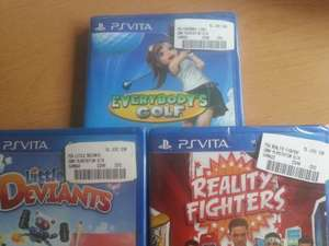 [MM Drygalski-Allee 31/München] Little Deviants,Everybody's Golf, Reality Fighters, Michael Jackson The Experience für jeweils 5€ (PS Vita)
