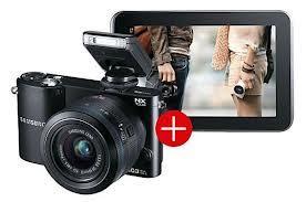 Samsung NX1000 Systemkamera SW Kit + 20 - 50 mm Objektiv + Samsung Galaxy Tab 2 7.0 WiFi