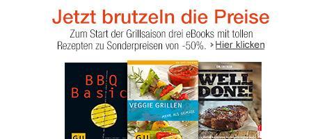 """[amazon Kindle] """"Jetzt brutzeln die Preise""""-Aktion: 50% auf drei Ebooks mit Grillrezepten, zB. """"BBQ Basics"""" und Dr. Oetker"""