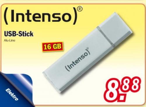 Intenso USB-Stick 16 GB bei Zimmermann für  8,88 €