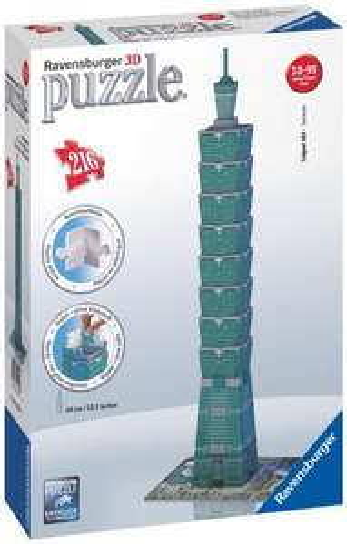 Ravensburger 12558 - Taipei 101-Taiwan 3D Puzzle (216 Teile) für 12,28€ + 3,19€ @Amazon Marketplace