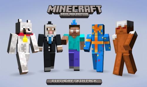 Kostenloses Minecraft Skinpaket zum 1. Geburtstag [Xbox 360]