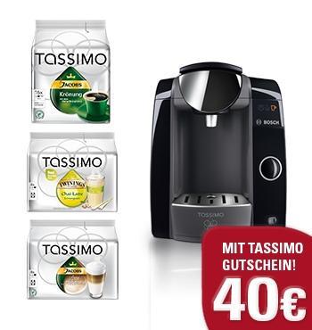 Bosch Tassimo Joy Kapselmaschine + 32 Kapseln + 40 Euro Kapselgutschein