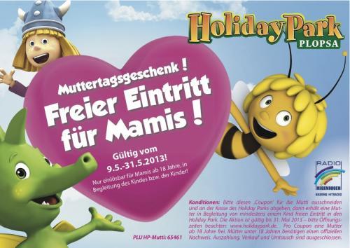 Holiday Park freier Eintritt für Mamis!