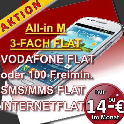 Galaxy S3 mini + Vertrag (I-Net Flat 250mb, SMS Flat, 100 Freiminuten) für 14,90€/Monat (Mit Handyverkauf ist es günstiger als die Deutschland-Sim!!)