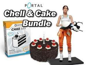 (Game-Legends) Portal 2 Chell Figur inkl. Portal Cake Mix für 29,98 €