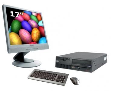 """Desktop-PC mit 17"""" TFT-Monitor (gebraucht)"""