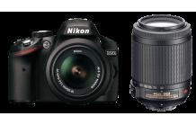 NIKON D3200 Body + 18-55mm VR + 55-200mm VR für 533 SATURN [AT]