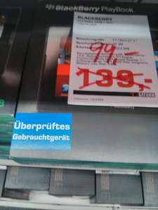 [Lokal] Refurbished BlackBerry Playbook 32 @ Saturn Mannheim