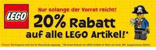 20% auf Lego Artikel bei ToysRus