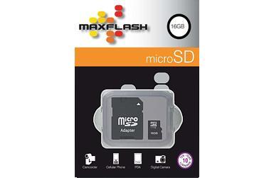 MaxFlash 16GB microSD Karte inkl. SD Adapter für 8€ @Logitel