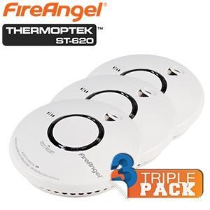 Dreierpack FireAngel Thermoptek™ ST-620 optischer Rauchmelder 35,90€