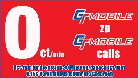 GTMobile Prepaid kostenlos untereinander telefonieren