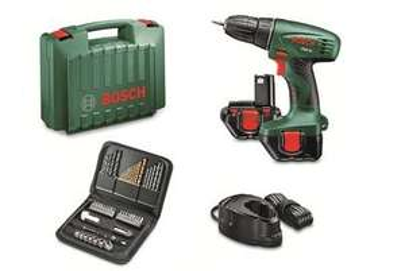 Bosch Akku-Bohrschrauber PSR 12 inkl. 2. Akku + 51-tlg. Zubehör-Set für 88,98€ bzw mit Qipu ca. 80€