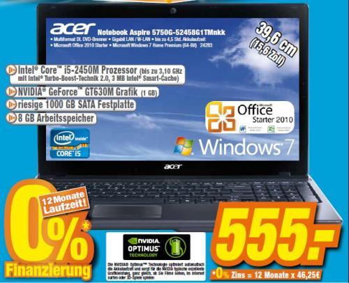 Acer Aspire 5750G-52458G1TMnkk