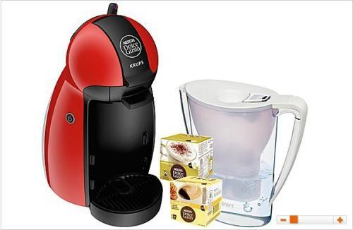 KRUPS Dolce Gusto KP 1006 + 2 Packungen Kaffee + 1 BWT Wasserfilter @ Saturn.de ab 39,00 EUR