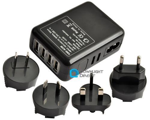 4 Port USB Ladegerät inkl. Reiseadaptern für 9,21€ inkl. Versand bei ebay