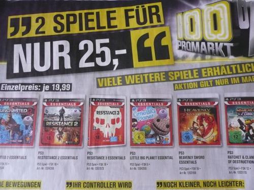 Lokal (ProMarkt) 2 PS3 Games für 25 Euro - Uncharted 2 - LBP - Resistance 12,50 Euro