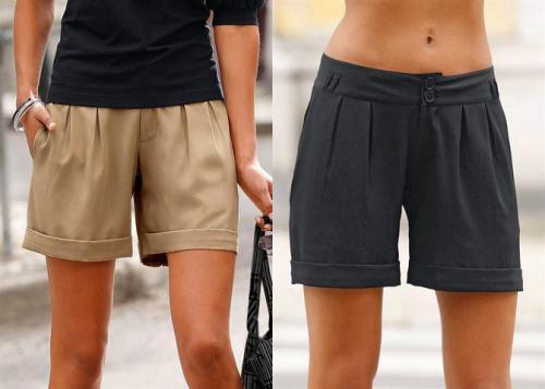 Bermudas/Shorts für Damen @ebay schwarz/braun für 9,90 € inkl. Versand