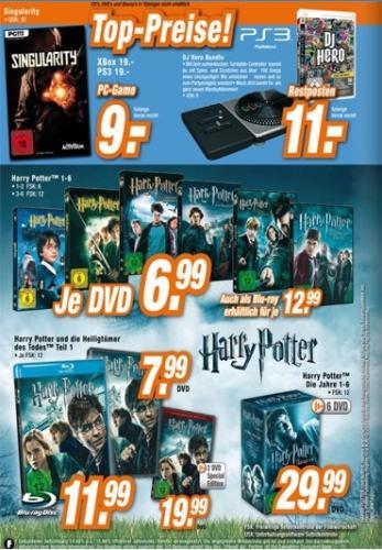 [Offline] Expert Restposten - DJ Hero 1 Bundle - PS3 - Harry Potter Filme - Spiel: Singularity - (wohl) Deutschlandweit