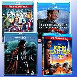 Kleiner 3D  Bluray  Check - Marvel Filme + John Carter