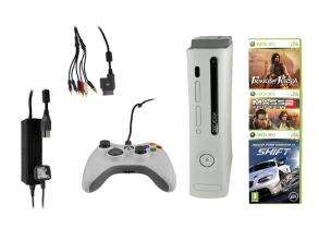 (B-Ware) Xbox 360 Premium 20GB + Controller + 3 Spiele für 89,95€