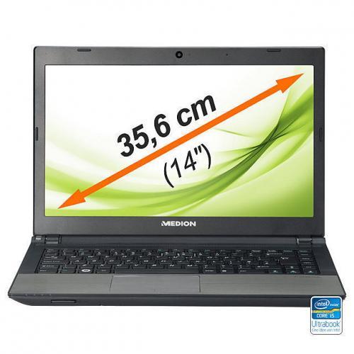"""Medion S4613, Ultrabook, 430-460€, Intel Core i5, Nvidia GT630M, 8GB DDR3, 14"""" Matt, 750GB HDD + 32GB SSD MeinPaket"""
