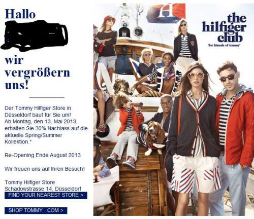 [Offline - Düsseldorf] Wg. Umbau: 50% Rabatt auf alles im Tommy Hilfiger Store Düsseldorf