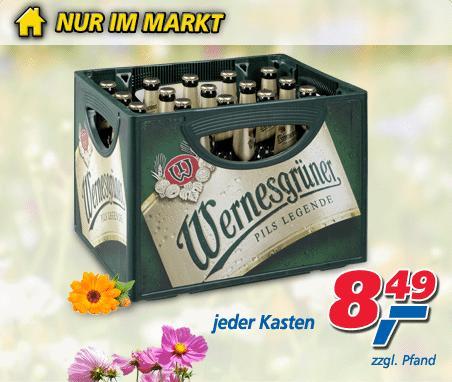 Wernesgrüner 10 Liter (20 x 0,5 Liter) für nur 8,49 EUR