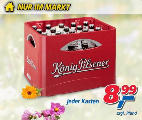 KöPi @ Real Kiste Königs Pilsener für 8,99 €