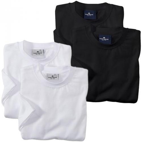 TOM TAILOR 2er Pack T-Shirt weiß schwarz S M L XL XXL für 12,99 inkl. Versand