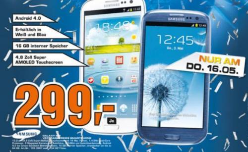 [Lokal Lübeck] Saturn am Donnerstag Samsung Galaxy S3 für 299€