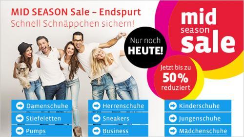 Mid Season Sale bei Mirapodo bis zu -50% nur mehr heute! + 10€ Neukunden GS