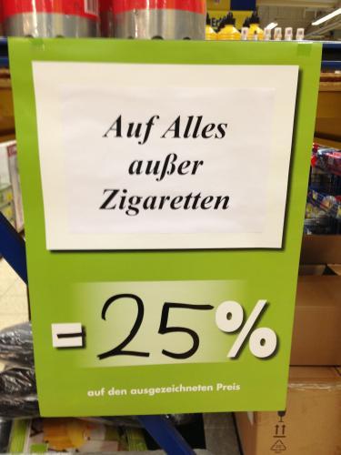 [lokal] Praktiker Aachen Räumungsverkauf -  25% auf Alles außer Zigaretten