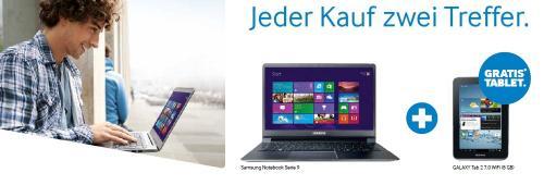 SAMSUNG AKTION - Ein Samsung Aktions-Notebook oder Aktions-PC kaufen - 1 GALAXY Tablet (429 €) gratis dazu bekommen
