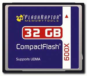 Flashraptor CF 32 GB Speedindex 600x Compact Flash