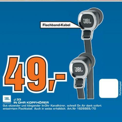 (Lokal?) JBL J33 In Ear und viele weitere Kopfhörer bei Saturn Köln Hansaring