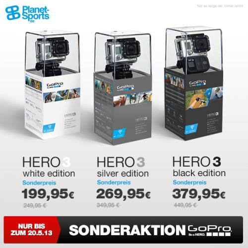 Gopro Hero3 Black für €359,95 @ PlanetSports.de