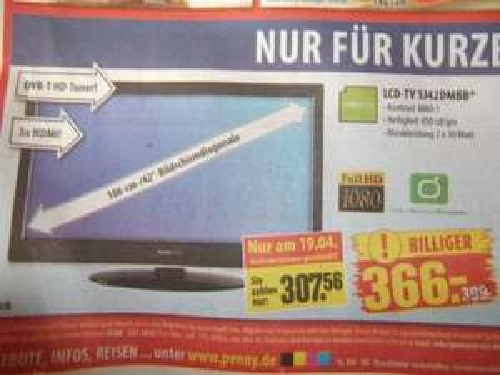 Hannspree LCD-TV SJ42DMBB [Chemnitz] Neueröffnung Penny -  19.04.