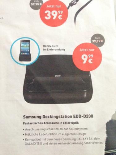 (Offline) Base - Samsung Dockingstation EDD-D200 für Galaxy S3, S4