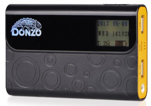 Powerbank 11200mAh Li-Polymer Akku - Display mit Datum - Uhrzeit - Temperatur und Akkustandsanzeige
