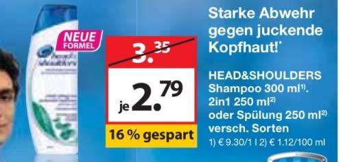 Head & Shoulders bei Müller für 1,79