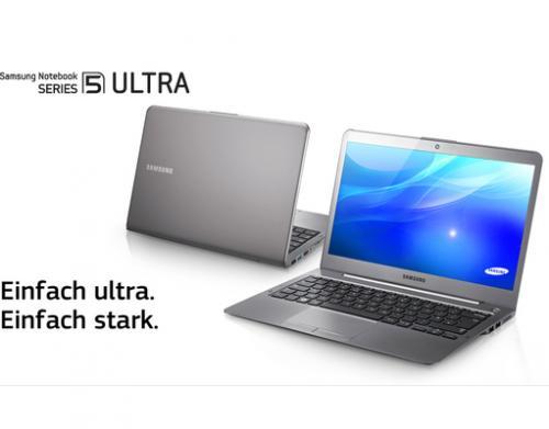 Netter OHA: 14er Samsung Ultrabook Serie 5 ULTRA i7 | 8GB | 620GT | 500GB + 24GB EC zu 777,77€