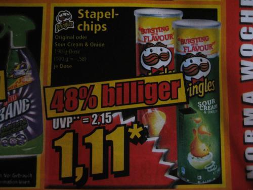 Pringles bei Norma ab Freitag 24. Mai