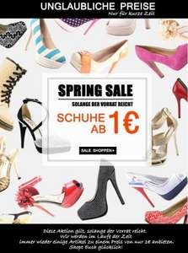 Jepo Schuhe Sale ab 1€ !!! zzgl. Versandkosten 4,90€